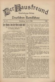 Der Hausfreund : Unterhaltungs-Beilage zur Deutschen Rundschau. 1928, Nr. 99 (12 Mai)