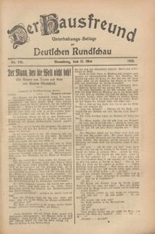 Der Hausfreund : Unterhaltungs-Beilage zur Deutschen Rundschau. 1928, Nr. 100 (13 Mai)