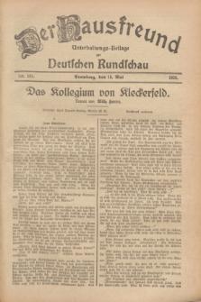 Der Hausfreund : Unterhaltungs-Beilage zur Deutschen Rundschau. 1928, Nr. 101 (15 Mai)