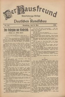 Der Hausfreund : Unterhaltungs-Beilage zur Deutschen Rundschau. 1928, Nr. 102 (16 Mai)
