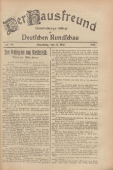 Der Hausfreund : Unterhaltungs-Beilage zur Deutschen Rundschau. 1928, Nr. 103 (17 Mai)