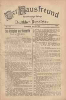 Der Hausfreund : Unterhaltungs-Beilage zur Deutschen Rundschau. 1928, Nr. 104 (19 Mai)