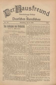 Der Hausfreund : Unterhaltungs-Beilage zur Deutschen Rundschau. 1928, Nr. 108 (25 Mai)