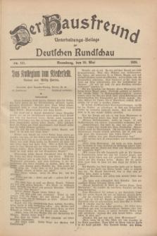 Der Hausfreund : Unterhaltungs-Beilage zur Deutschen Rundschau. 1928, Nr. 111 (30 Mai)