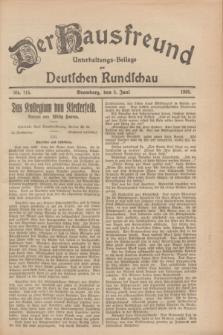 Der Hausfreund : Unterhaltungs-Beilage zur Deutschen Rundschau. 1928, Nr. 115 (3 Juni)