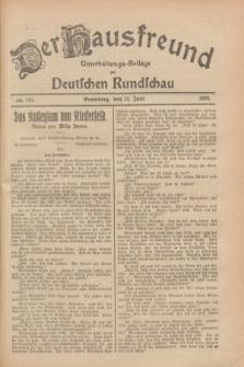 Der Hausfreund : Unterhaltungs-Beilage zur Deutschen Rundschau. 1928, Nr. 121 (12 Juni)