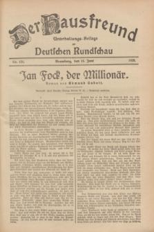 Der Hausfreund : Unterhaltungs-Beilage zur Deutschen Rundschau. 1928, Nr. 124 (15 Juni)