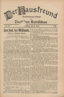Der Hausfreund : Unterhaltungs-Beilage zur Deutschen Rundschau. 1928, Nr. 128 (20 Juni)