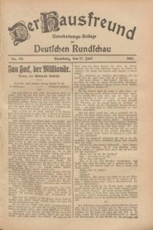 Der Hausfreund : Unterhaltungs-Beilage zur Deutschen Rundschau. 1928, Nr. 133 (27 Juni)