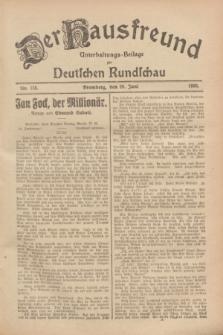 Der Hausfreund : Unterhaltungs-Beilage zur Deutschen Rundschau. 1928, Nr. 135 (29 Juni)