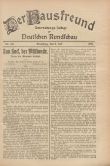 Der Hausfreund : Unterhaltungs-Beilage zur Deutschen Rundschau. 1928, Nr. 136 (1 Juli)