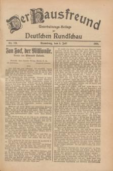 Der Hausfreund : Unterhaltungs-Beilage zur Deutschen Rundschau. 1928, Nr. 138 (5 Juli)