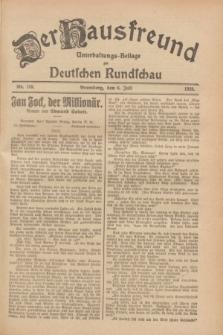 Der Hausfreund : Unterhaltungs-Beilage zur Deutschen Rundschau. 1928, Nr. 139 (6 Juli)