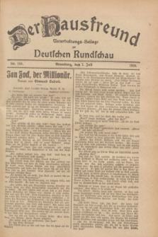 Der Hausfreund : Unterhaltungs-Beilage zur Deutschen Rundschau. 1928, Nr. 140 (7 Juli)