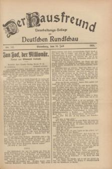Der Hausfreund : Unterhaltungs-Beilage zur Deutschen Rundschau. 1928, Nr. 142 (10 Juli)
