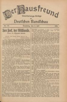 Der Hausfreund : Unterhaltungs-Beilage zur Deutschen Rundschau. 1928, Nr. 143 (11 Juli)