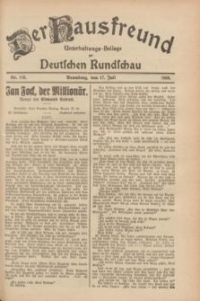 Der Hausfreund : Unterhaltungs-Beilage zur Deutschen Rundschau. 1928, Nr. 148 (17 Juli)