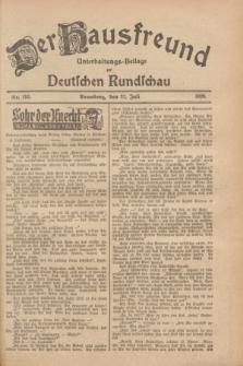 Der Hausfreund : Unterhaltungs-Beilage zur Deutschen Rundschau. 1928, Nr. 152 (21 Juli)
