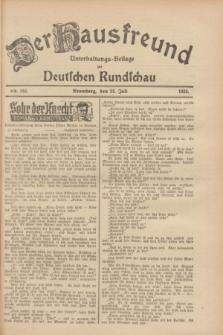 Der Hausfreund : Unterhaltungs-Beilage zur Deutschen Rundschau. 1928, Nr. 153 (22 Juli)
