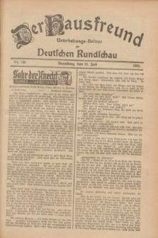 Der Hausfreund : Unterhaltungs-Beilage zur Deutschen Rundschau. 1928, Nr. 155 (25 Juli)