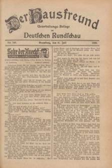 Der Hausfreund : Unterhaltungs-Beilage zur Deutschen Rundschau. 1928, Nr. 160 (31 Juli)