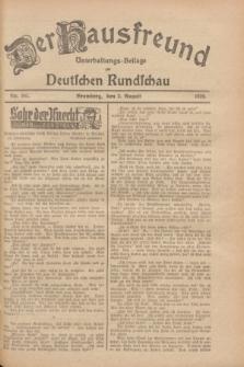 Der Hausfreund : Unterhaltungs-Beilage zur Deutschen Rundschau. 1928, Nr. 162 (2 August)