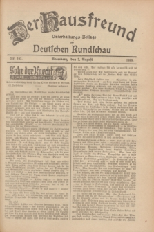 Der Hausfreund : Unterhaltungs-Beilage zur Deutschen Rundschau. 1928, Nr. 163 (3 August)