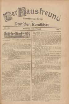 Der Hausfreund : Unterhaltungs-Beilage zur Deutschen Rundschau. 1928, Nr. 165 (5 August)