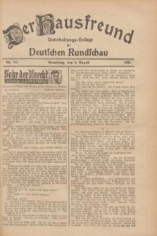 Der Hausfreund : Unterhaltungs-Beilage zur Deutschen Rundschau. 1928, Nr. 167 (8 August)