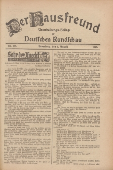 Der Hausfreund : Unterhaltungs-Beilage zur Deutschen Rundschau. 1928, Nr. 168 (9 August)