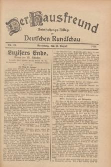 Der Hausfreund : Unterhaltungs-Beilage zur Deutschen Rundschau. 1928, Nr. 173 (15 August)