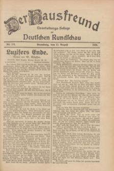 Der Hausfreund : Unterhaltungs-Beilage zur Deutschen Rundschau. 1928, Nr. 174 (17 August)