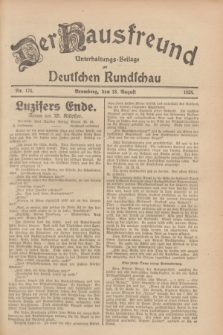 Der Hausfreund : Unterhaltungs-Beilage zur Deutschen Rundschau. 1928, Nr. 175 (18 August)
