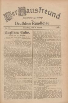 Der Hausfreund : Unterhaltungs-Beilage zur Deutschen Rundschau. 1928, Nr. 176 (19 August)