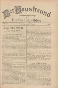Der Hausfreund : Unterhaltungs-Beilage zur Deutschen Rundschau. 1928, Nr. 177 (21 August)