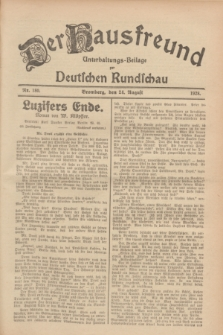 Der Hausfreund : Unterhaltungs-Beilage zur Deutschen Rundschau. 1928, Nr. 180 (24 August)