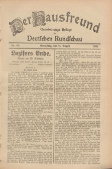 Der Hausfreund : Unterhaltungs-Beilage zur Deutschen Rundschau. 1928, Nr. 182 (26 August)