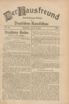 Der Hausfreund : Unterhaltungs-Beilage zur Deutschen Rundschau. 1928, Nr. 184 (29 August)