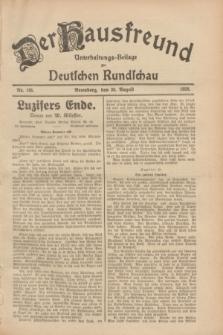 Der Hausfreund : Unterhaltungs-Beilage zur Deutschen Rundschau. 1928, Nr. 185 (30 August)