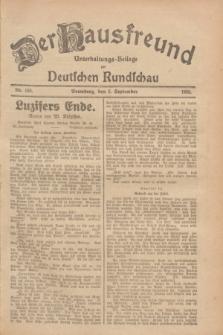 Der Hausfreund : Unterhaltungs-Beilage zur Deutschen Rundschau. 1928, Nr. 188 (2 September)