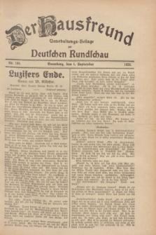 Der Hausfreund : Unterhaltungs-Beilage zur Deutschen Rundschau. 1928, Nr. 189 (4 September)