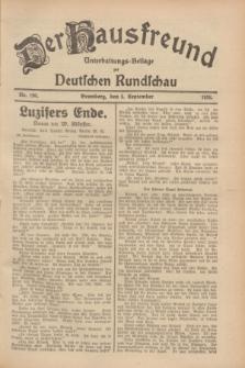 Der Hausfreund : Unterhaltungs-Beilage zur Deutschen Rundschau. 1928, Nr. 190 (5 September)