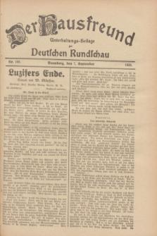 Der Hausfreund : Unterhaltungs-Beilage zur Deutschen Rundschau. 1928, Nr. 192 (7 September)
