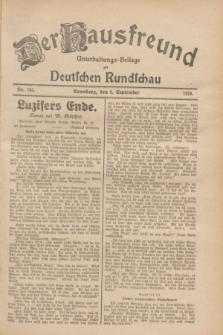 Der Hausfreund : Unterhaltungs-Beilage zur Deutschen Rundschau. 1928, Nr. 193 (8 September)