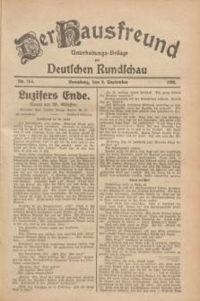 Der Hausfreund : Unterhaltungs-Beilage zur Deutschen Rundschau. 1928, Nr. 194 (9 September)