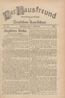 Der Hausfreund : Unterhaltungs-Beilage zur Deutschen Rundschau. 1928, Nr. 195 (11 September)