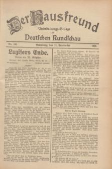 Der Hausfreund : Unterhaltungs-Beilage zur Deutschen Rundschau. 1928, Nr. 196 (12 September)
