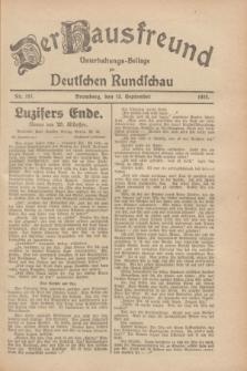 Der Hausfreund : Unterhaltungs-Beilage zur Deutschen Rundschau. 1928, Nr. 197 (13 September)