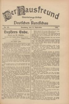 Der Hausfreund : Unterhaltungs-Beilage zur Deutschen Rundschau. 1928, Nr. 198 (14 September)