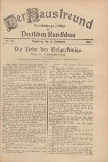 Der Hausfreund : Unterhaltungs-Beilage zur Deutschen Rundschau. 1928, Nr. 199 (15 September)
